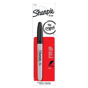 1 New Sharpie Permanent Markers Fine Point Black