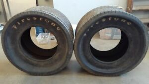 Rare Nos Firestone 7 50 14 00 16w Rear Grooved Tires Hot Rod Dirt Track