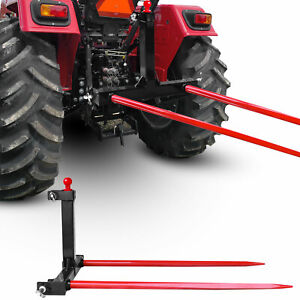 Category 1 Tractors 3 Point Trailer Hitch Quick Attach W 49 Hay Bale Spear
