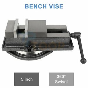 Bench Vise 5 Inch Milling Machine Fitter Tools Swivel Base