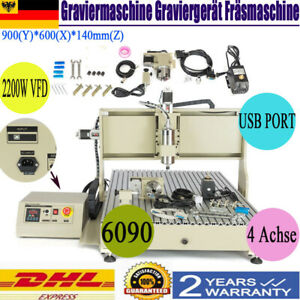 4 Axis Usb Port 6090 Cnc Router Engraver 2 2kw 3d Cutter Engraving Machine 220v