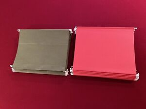 Used And New Legal Size Hanging File Folders 65 Count 40 Green 25 Red