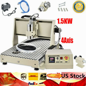 Usb 4 Axis 6040 Cnc Router Engraver Engraving Machine Woodwork Milling Drilling