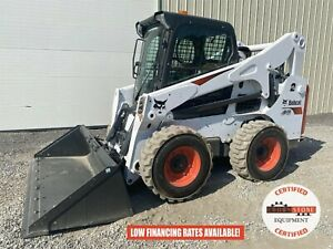 2019 Bobcat S740 Skid Steer Erops 2 Speed Ride Control 93 Hours Unsold Demo