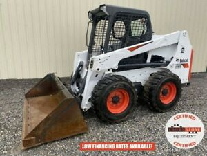 2019 Bobcat S630 Skid Steer Orops Aux Hyd 2 Speed Hand foot Control 708 Hrs