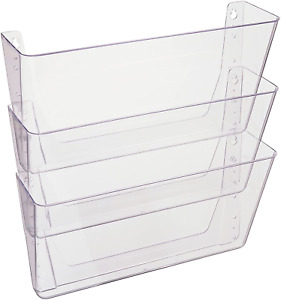 Office Organizer Holder A4 Linking Wall Mounted Files 3 Pockets Document Paper