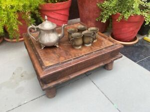 Coffee Tea Table Low Table Wooden Hand Carved 1840 S Antique Table Rare Bazot