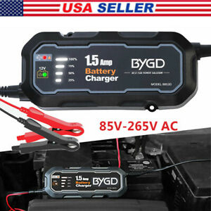 Smart Battery Charger Maintainer 12v 1 5a Deep Cycle Agm Sla Car Truck Motorbike