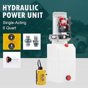 6 Quart 12v Single Acting Hydraulic Pump For Wheelchair Boat And Tailgate Lifts