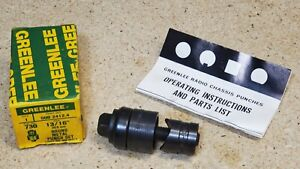 Greenlee No 730bb 13 16 Diameter Punch And Die Set Ball Bearing Knockout