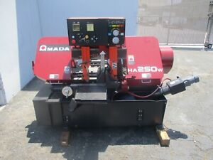 2000 Amada Model Ha 250w Fully Automatic Horizontal Band Saw With Chip Auger