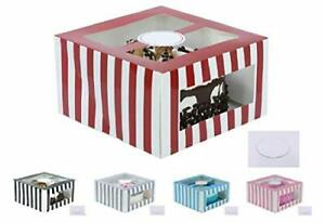 Confection Protection Cardboard Cake Boxes 10 X 10 X 6 Inch Tall Cake Box Set
