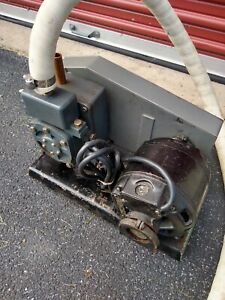 Welch Model 1400 Duo seal Vacuum Pump With Ge Motor Untested