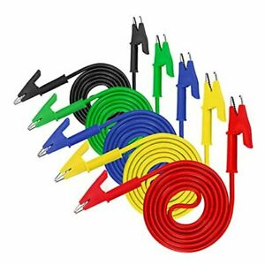 Pcs Alligator Clips Electrical Test Leads Set 1a Jumper Wires Heavy Duty 5