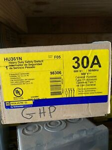 Square D Heavy Duty Safety Switch Hu361n 30a