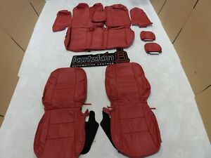 Leather Seat Covers Fits Toyota Camry Se Xse 2015 2016 2017 Red Vin U Fw16