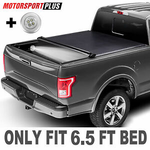 6 5ft Truck Bed Soft Roll Up Tonneau Cover For 2009 2020 Ford F 150 Lariat