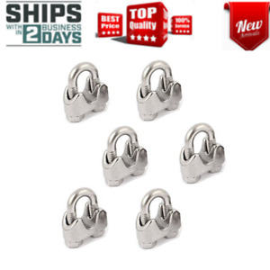 5 32 Inch Wire Rope Clamps Stainless Steel Rope Cable Clip Clamp Fastener 6 Pcs