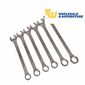 6pc Spanner Set Jumbo Metric Large Combination Industrial 32 50mm Ring Wrench