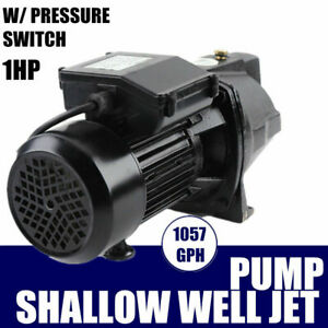 Shallow Well Jet Pump W Pressure Switch 1 Hp 110v Surface Water Pump Ip44