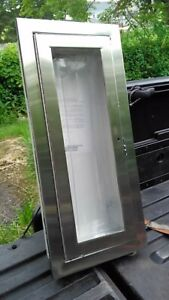 Stainless Steel Potter Roemer Fire Pro Alta Fire Extinguisher Cabinet