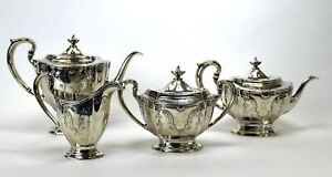 Dominick And Haff Sterling Silver 4 Piece Tea Coffee Set