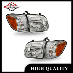 Pair Headlights Lamps For 2005 2006 Toyota Tundra 2005 07 Sequoia Chrome Housing