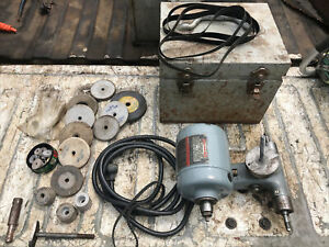 Dumore 48 011 Tool Post Lathe Grinder 1 3 Hp accessories see Pictures