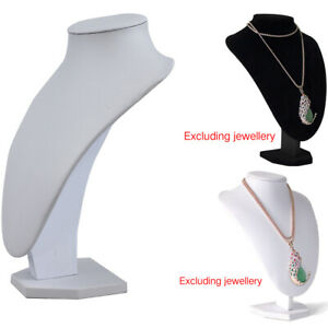 1x Velvet Necklace Pendant Jewelry Display Bust Mannequin Stand Holder Rack Us