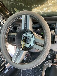 2005 2006 2007 Ford Mustang Black Leather Silver Steering Wheel