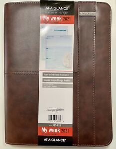 At a glance Zipper Padfolio Planner Weekly monthly Appointment Book Seaside