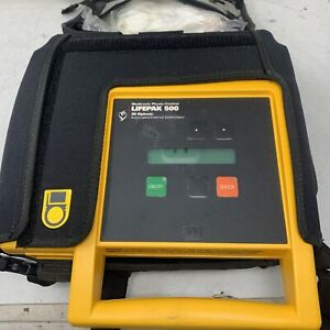 Medtronic Physio Lifepak 500 Biphasic Aed 3011790 001502 W Case Mw2d 1