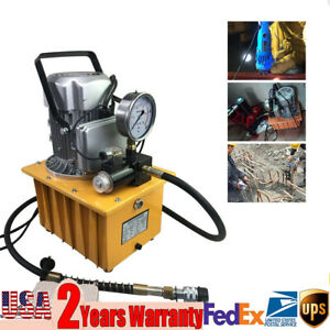 110v 7l 2 Stage Electric Hydraulic Pump Power Pack Single Acting 10000psi Us