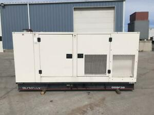 __55 Kw Cat Olympian Generator Set Natural Gas Sound Attenuated Year 2003