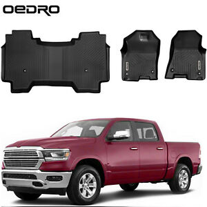 Oedro All Weather Tpe Floor Mats For 2019 2021 Dodge Ram 1500 Crew Cab 2 Rows