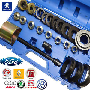25pc Front Wheel Hub Bearing Service Tool Set Puller Removes Install S 60 85mm