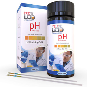Ph Test Strips 0 To 14 200 Ct For Water Liquids Universal Plastic Ph Strips