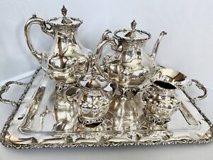 Sterling Silver Coffee Tea Set With Tray