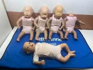 5 Laerdal Little Anne Infant Baby Cpr Training Manikin Emt First Aid Carry Bag