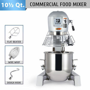 10qt Commercial Stand Mixer 600w Electric Food Mixing Machine With 3 Attachments