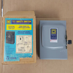 Square D Safety Switch D222n Series D2 60a 240vac Fusible