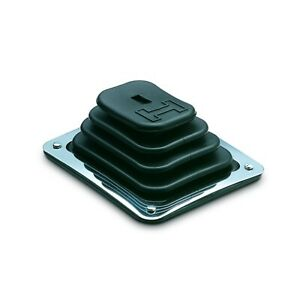 Hurst 1144580 Shifter Boot And Plate Kit Rubber With Black Finish