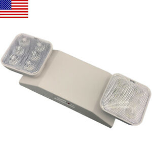 Led Emergency Exit Light Home Office Adjustable Two Heads Light Lamp Ul listed