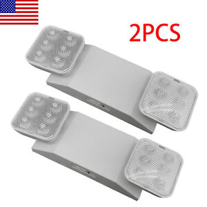2pack Led Emergency Exit Light Home Office Adjustable Two Heads Lighting Lamp Ul