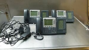 Lot Of 3 Cisco Ip Phone 7960 Series W 7914 Expansion Module Power Adaptor