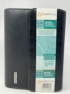 Franklin Covey Classic Black Binder Faux Leather With Starter Pack New