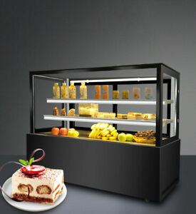 47 Wide Cake Show Case Countertop Refrigerated Display Cases Back Openning 220v