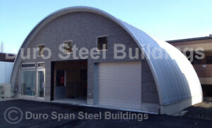 Durospan Steel 33x33x15 Metal Quonset Home Building Kit Open Ends Factory Direct