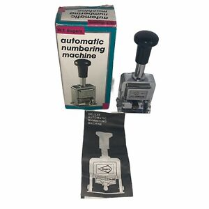 Vintage W t Rogers Automatic Numbering Machine Model 04213 No Ink Free Shipping