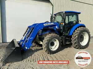 2013 New Holland T4 105a Tractor W Loader Cab 4x4 3 Point 540 Pto 544 Hour